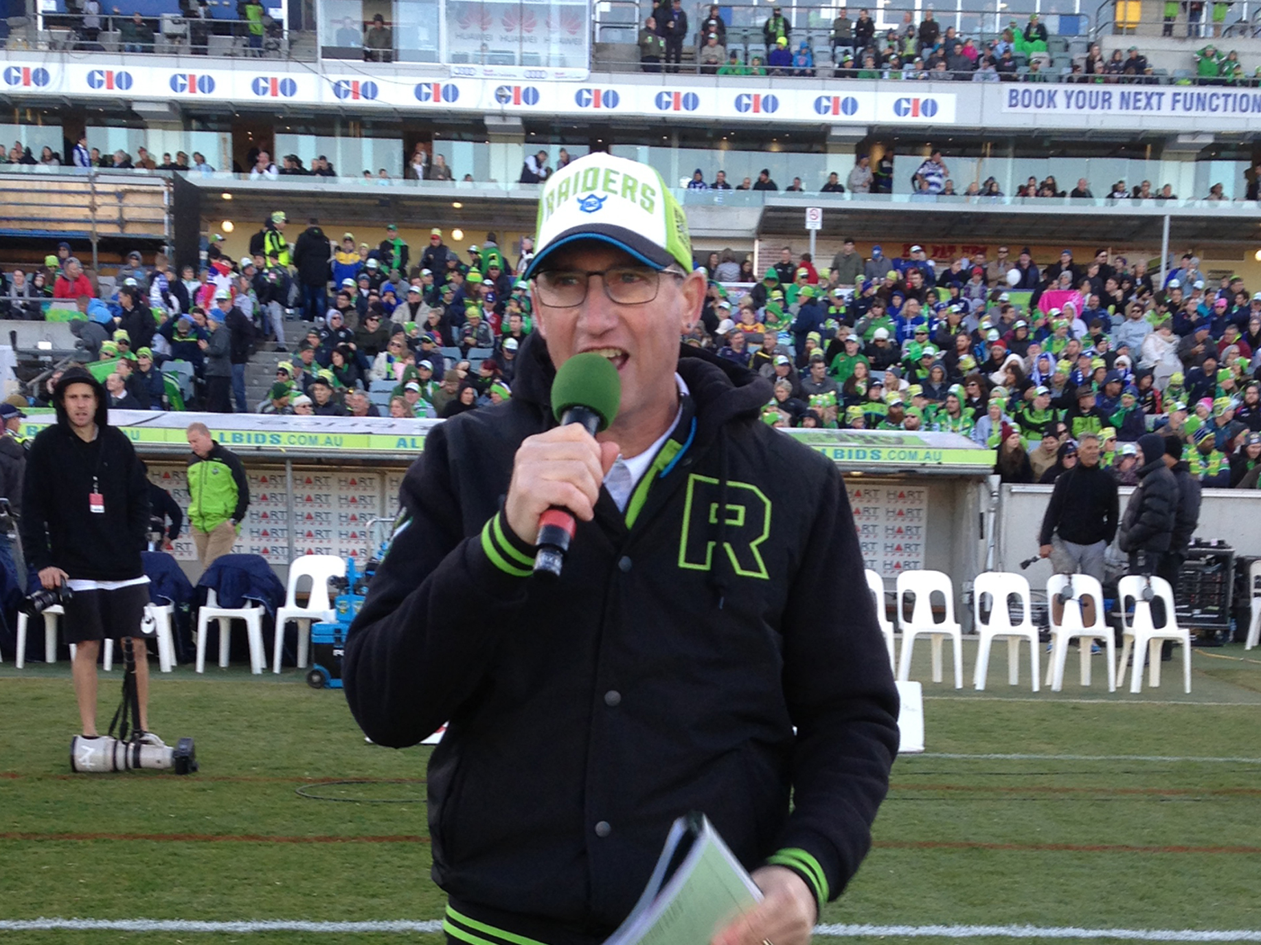 Ground Announcing - Canberra Raiders 2016