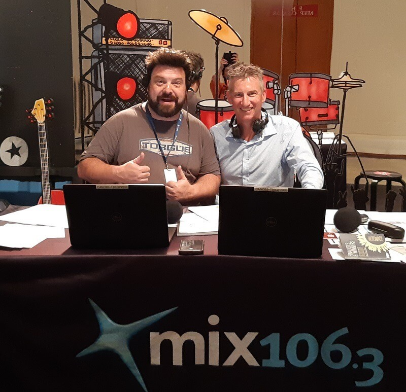 2019 - On air with Nige for Mix Breakfast at Old Parliament House