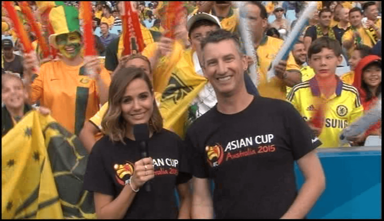On screen presenter 2015 - Asian Cup Final in Sydney