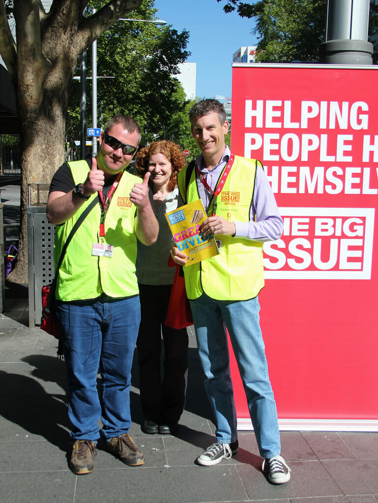 Selling the Big Issue on the streets of Canberra