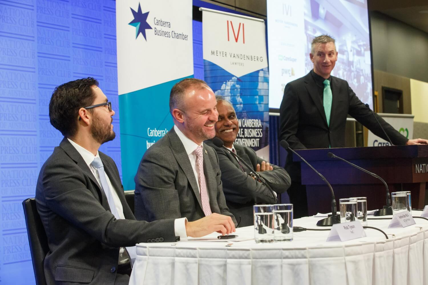 A lighter moment hosting the 2019 ACT Budget Breakfast