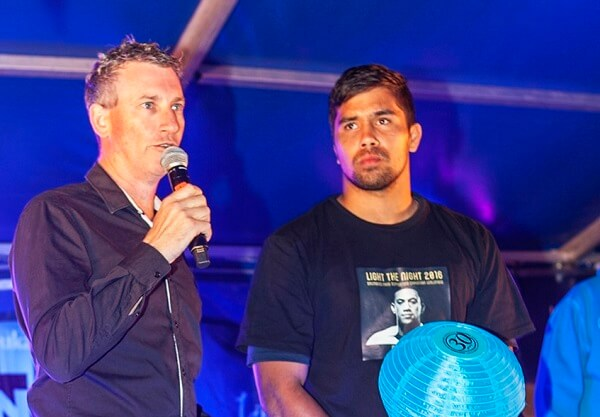 Host 2016 Light the Night with Ambassador and Brumbies back rower Jarrad Butler
