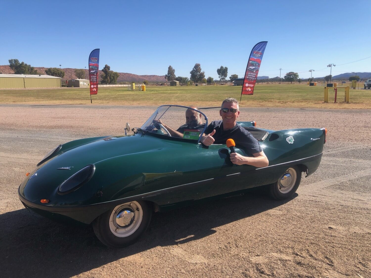 Presenting at the 2019 Red Centre Nats in a Go Go Mobile!